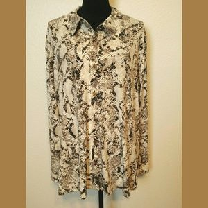 Calvin Klein NWT Plus Size Animal Print Blouse 3X